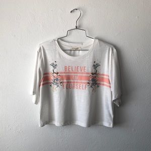 living doll believe in yourself crop top